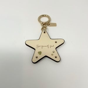 Coach Selena Star Bag Charm Key Chain